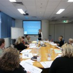 Amanda Shields conducting the Facilitating Health Behaviour Change Workshop for Health Professionals